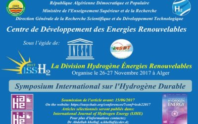 Symposium International sur l'Hydrogène Durable (ISSH2'2017)