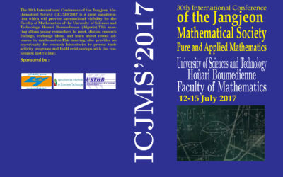 The 30th International Conférence of the Jangjeon Mathematical Society (ICJMS2017); 12-15 juillet 2017
