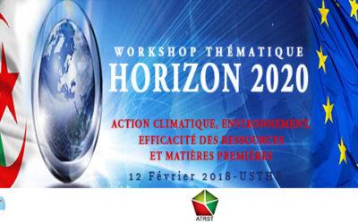 Workshop Thématique « Action climatique, environnement, efficacité des ressources et matières premières »