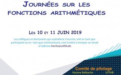 Journée sur les Fonctions Arithmétiques, les 10 & 11 Juin 2019