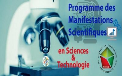 Programme des manifestations scientifiques en sciences et Technologie 2019, mise à jour le : 12.02.2020