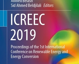 ICREEC'2019 International Conference on Renewable Energy and Conversion Oran, Algeria