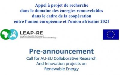 Appel à projets collaboratifs de recherche et d'innovation sur les énergies renouvelables