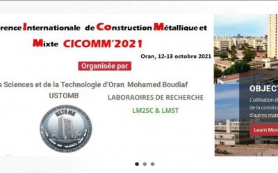 la 3em Conférence Internationale de Construction Métallique et Mixte (CICOMM'2021_Oran, 12-13 Octobre 2021